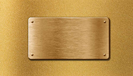 golden metal plate Stock Photo - 13168928