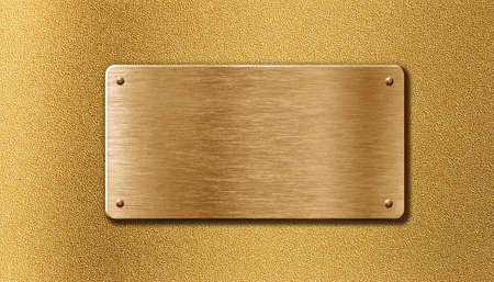 golden metal plate Stock Photo - 13168928