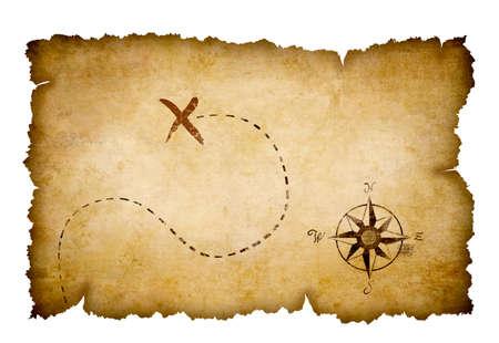 carte tr�sor: Pirates carte au tr�sor Banque d'images