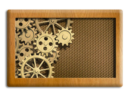 musical box gears background photo