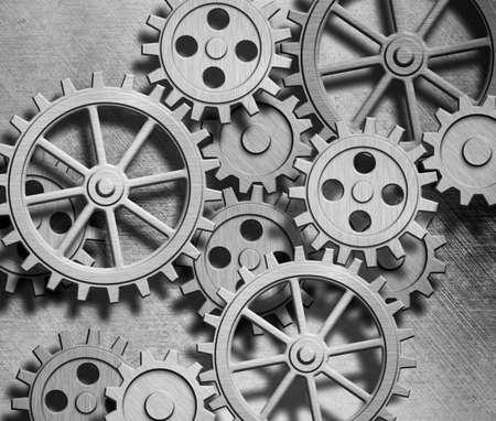 clockwork gears metal background Stock Photo - 13712414