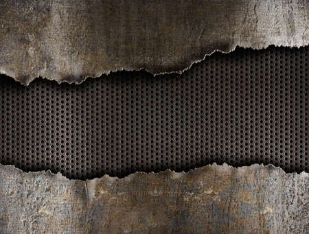 metal: metal ripped hole background