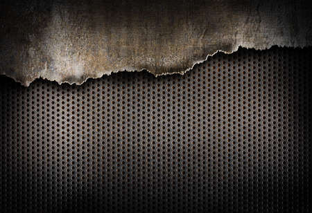 METAL BACKGROUND: torn metal background Stock Photo