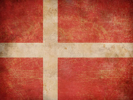 denmark flag: Grunge Denmark flag as a background