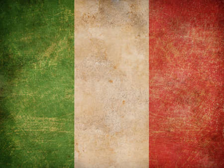 the italian flag: vieja bandera italiana