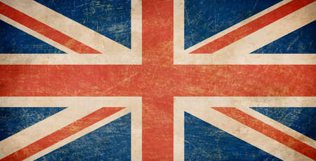 great britain flag: Grunge British flag