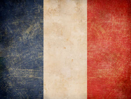 old French tricolour flag photo
