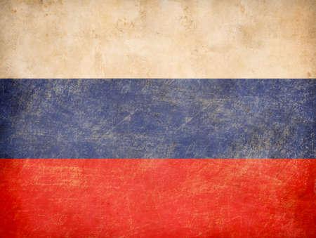 tricolour: old Russian tricolour flag Stock Photo