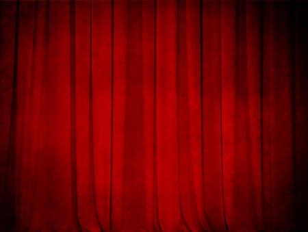 sipario chiuso: grunge rosso teatro tenda di sfondo