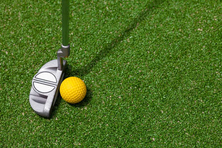 golf club and ball top view photo