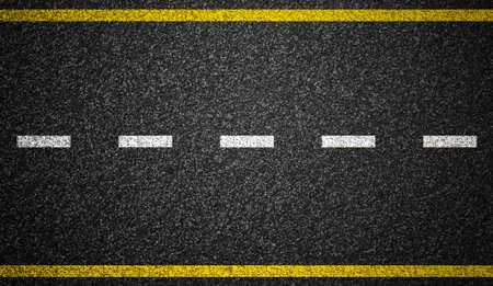 道路マーキングの背景を持つアスファルト道路 写真素材