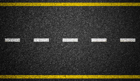 Asfalt weg met wegmarkeringen achtergrond