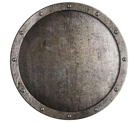 Oude ronde metalen middeleeuwse schild