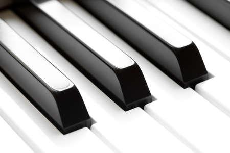 klavier: Klaviertastatur Makro Lizenzfreie Bilder