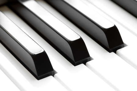 piano closeup: piano keyboard macro