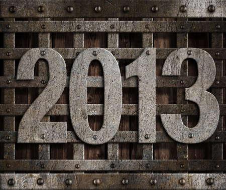 2013 new year metal illustration Stock Illustration - 14967349