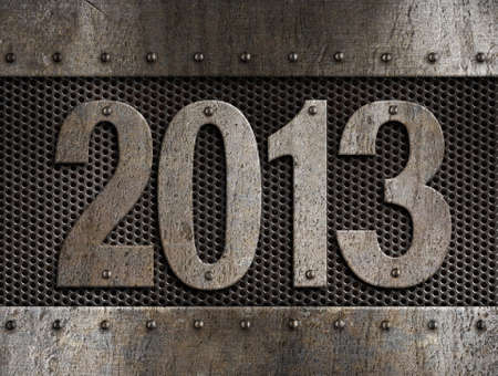 2013 new year metal illustration Stock Illustration - 14967359