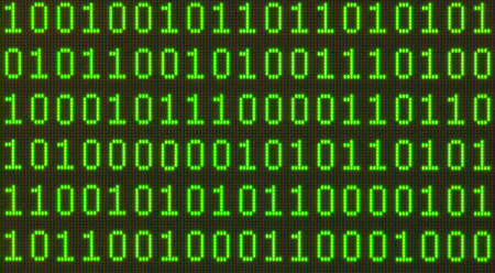 Seamless pattern  Binary data on LCD screen macro shot  photo