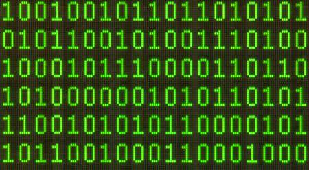 Nahtlose Muster Binary Daten auf LCD-Bildschirm-Makro erschossen