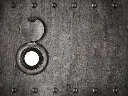 peep hole in grunge metal armored door Stock Photo - 15221363