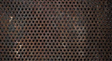 ironworks: grunge metal grid background