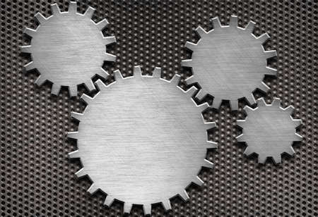 metal gears and cogs background photo