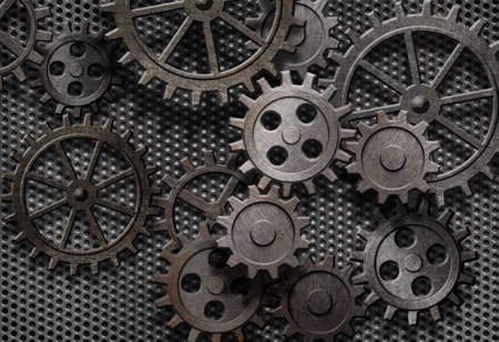 abstract rusty gears old machine parts Stock Photo - 15285556