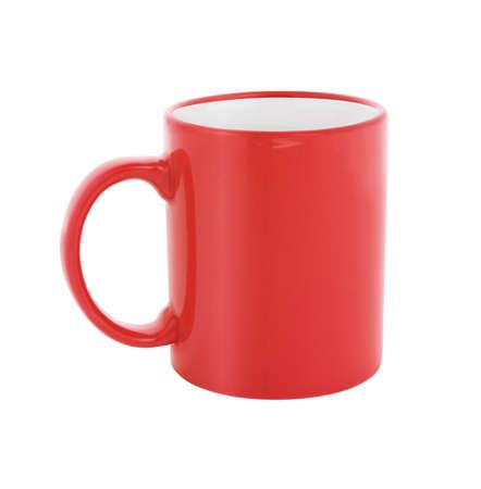 tazas de cafe: rojo taza de café aislada