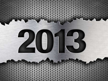 2013 new year metal template photo