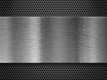 metal plate over comb grate photo
