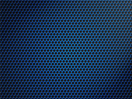 blue metallic grid or grille background photo