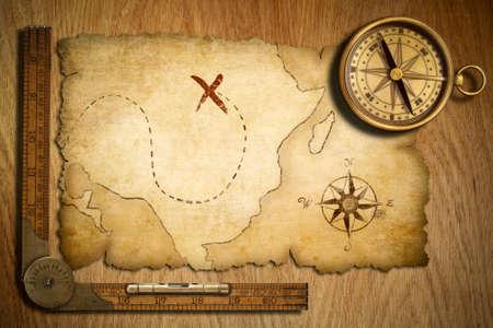 mapa del tesoro: textura de madera