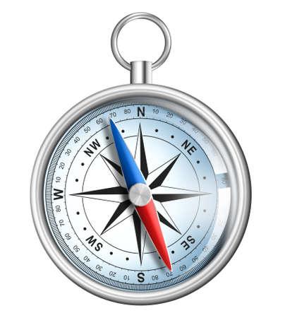 compass isolated on white realistic illustration Stock Illustration - 15961785