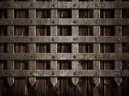 ch�teau m�di�val: paroi ch�teau m�di�val ou en m�tal de fond porte