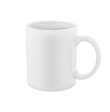 mug: white coffee cup isolated  Stock Photo