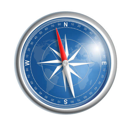 compass isolated on white realistic illustration illustration