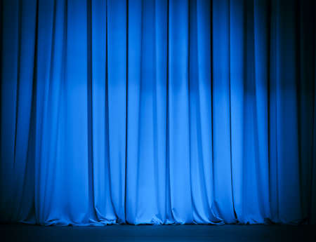 theatre curtain: theatre blue curtain