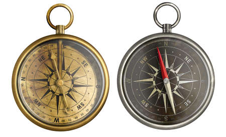 brass antique compass collection Stock Photo - 17419447