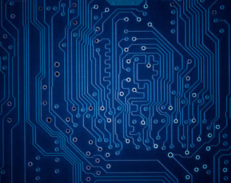 electronic scheme: Blue circuit plate background