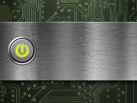 electricidad industrial: el botón de encendido