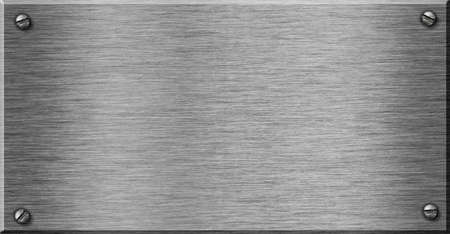 piastra acciaio: placca di metallo lucido come sfondo per il vostro testo