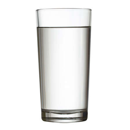 tall full glass of water isolated on white clipping path included photo