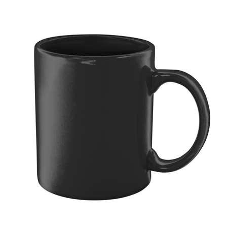 tazas de cafe: taza de café negro aislado con trazado de recorte incluidos Foto de archivo