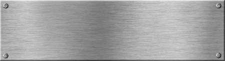 metal sheet: metal signboard texture with screws Stock Photo