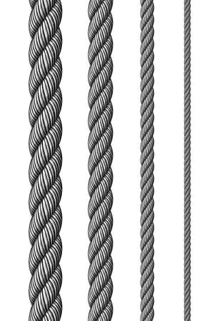 steel cable: Steel metal ropes set