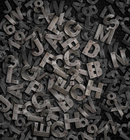 old metal letters background photo