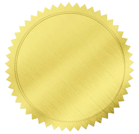 gold seal label with clipping path included Stock Photo - 18155141