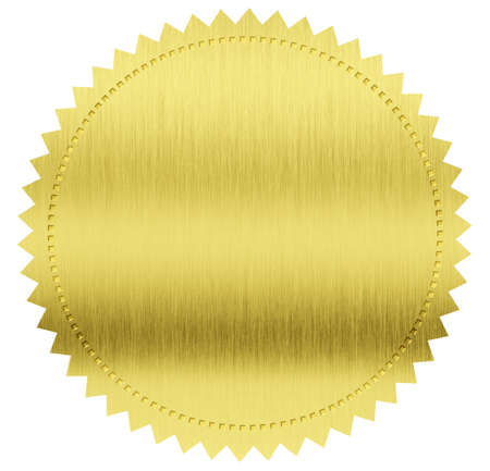 gold medal: gold seal label with clipping path included