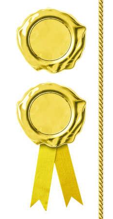 Golden seals set Stock Photo - 18181568