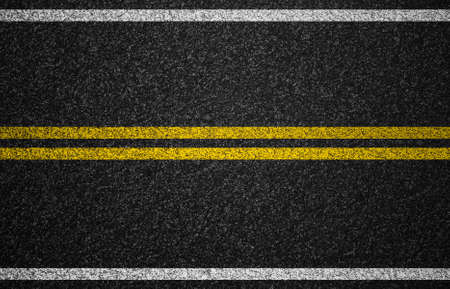 Asphalt highway with road markings background photo